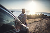 istock Woman on the road trip 923120884
