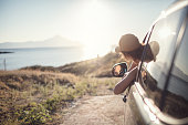 istock Woman on the road trip 923121024