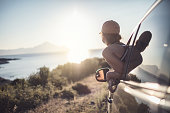 istock Woman on the road trip 923123660