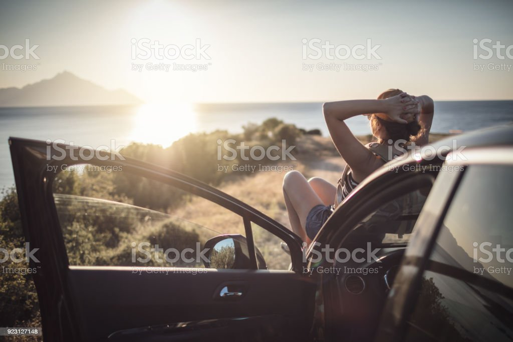 Frau auf der Roadtrip – Foto