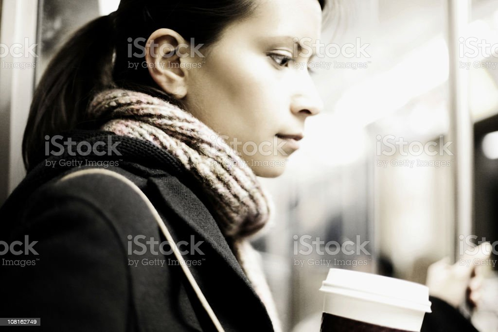woman on the train royalty-free stock photo