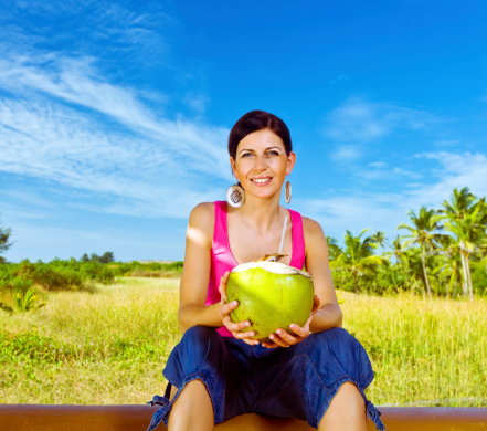 Woman On The Tropical Vacation Stock Photo - Download Image Now