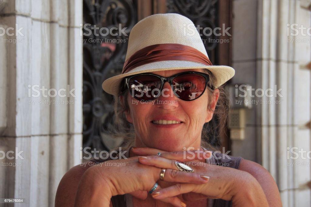 女人在度假 免版稅 stock photo
