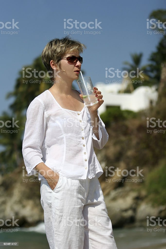 Woman on vacation royalty-free stock photo
