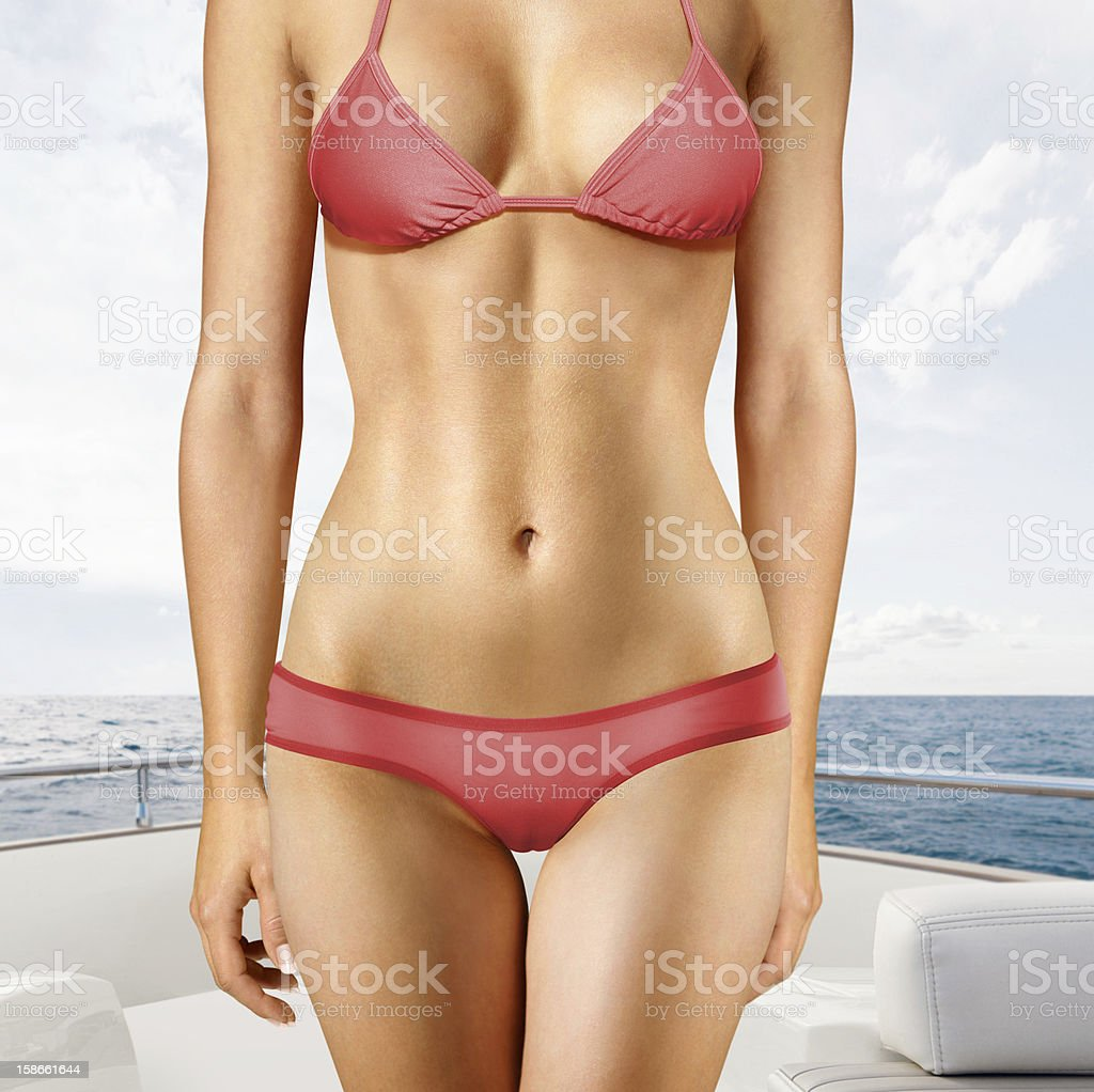 woman on yacht royalty-free stock photo