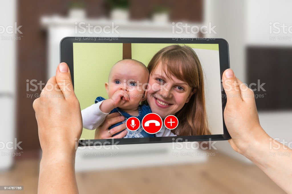 Woman Online Talking With Her Friend Video Call Concept