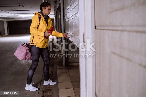 Young Woman Getting ready for her Daily Jogging Routine