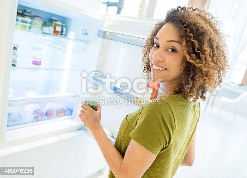 istock Woman opening the fridge 485076226