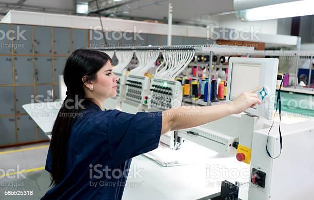 Woman operating the embroidery machine picture id585525318?b=1&k=6&m=585525318&s=612x612&h=mi36onivaqdy84hj6mkgtvevy9e rvuna3rnrkqtdec=
