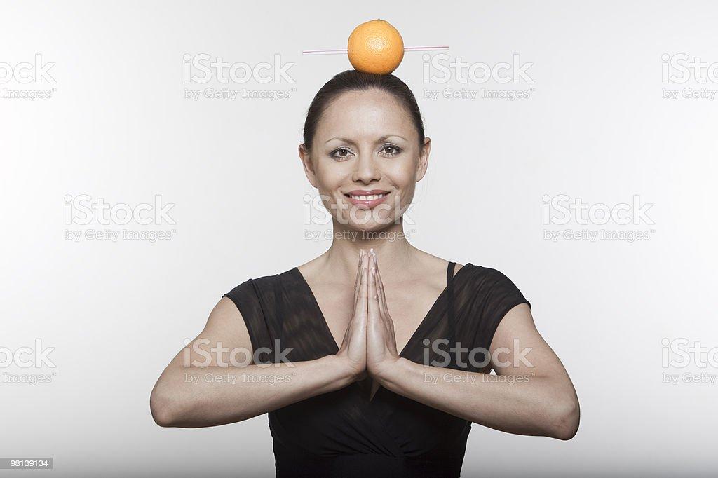 woman orange juice royalty-free stock photo