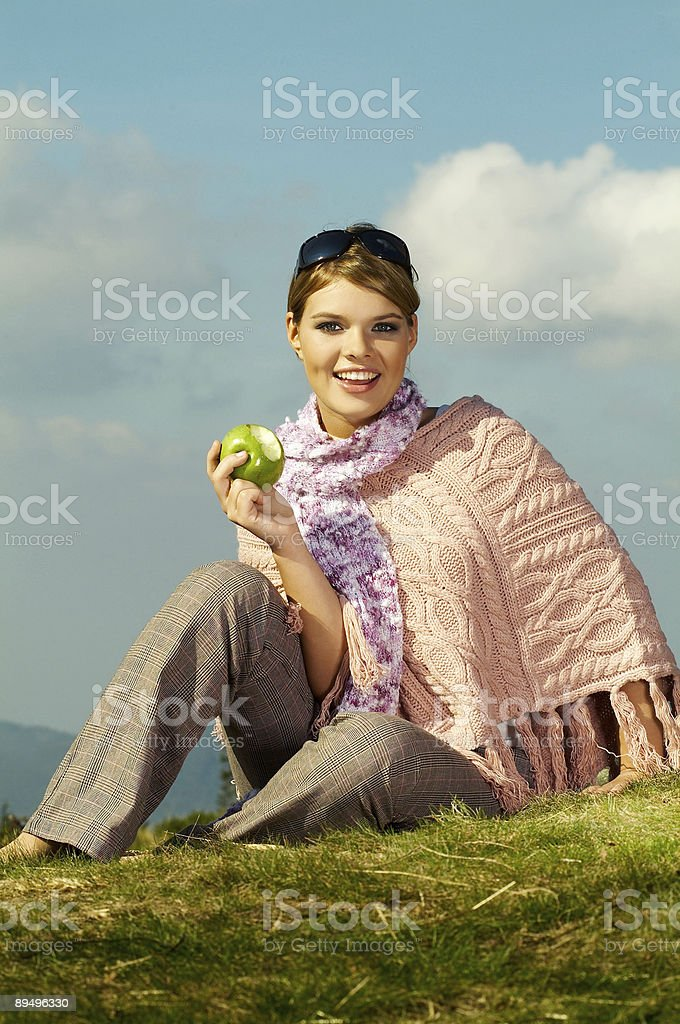 Woman Outdoor royalty-free stock photo