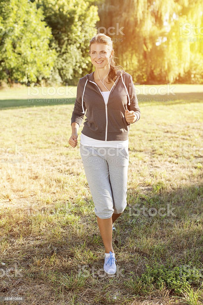 Woman outdoors. royalty-free stock photo