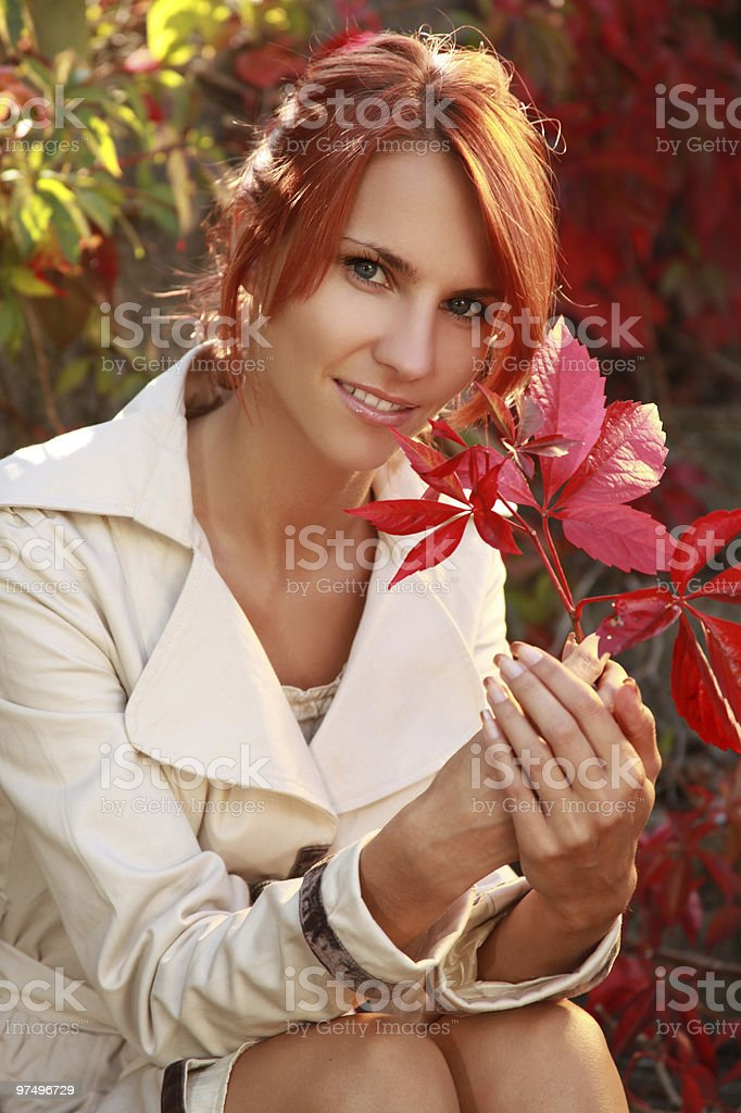 woman outdoors royalty-free stock photo