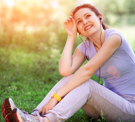 479652946 istock photo woman outdoors with headphones 479652954