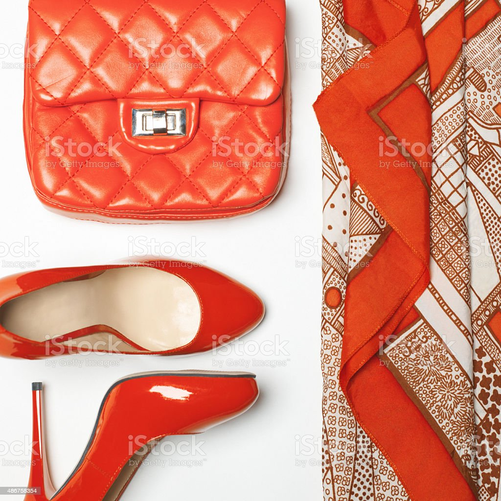 Woman outfit stock photo