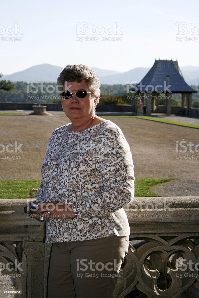 Woman Outside royalty-free stock photo