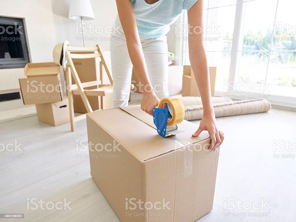 Frau Verpackung Pappkarton – Foto