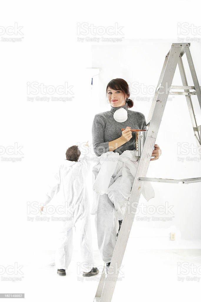 Woman painter royalty-free stock photo