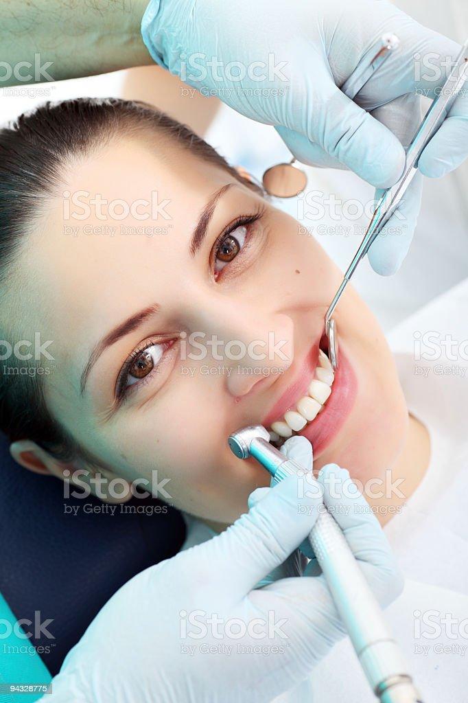 Woman patient at the dentist. royalty-free stock photo