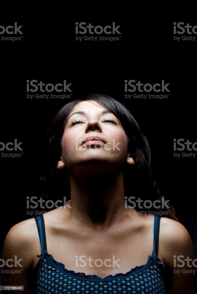 Woman pensiving royalty-free stock photo