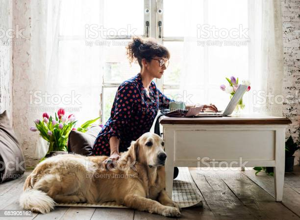 Woman petting goldent retriever dog picture id683905162?b=1&k=6&m=683905162&s=612x612&h=rhxmhg0h5cbmxvwt x1nb5ratthrnbq4lwm04df4nxu=