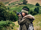 istock Woman Photography Camera Nature Environment Concept 890572934