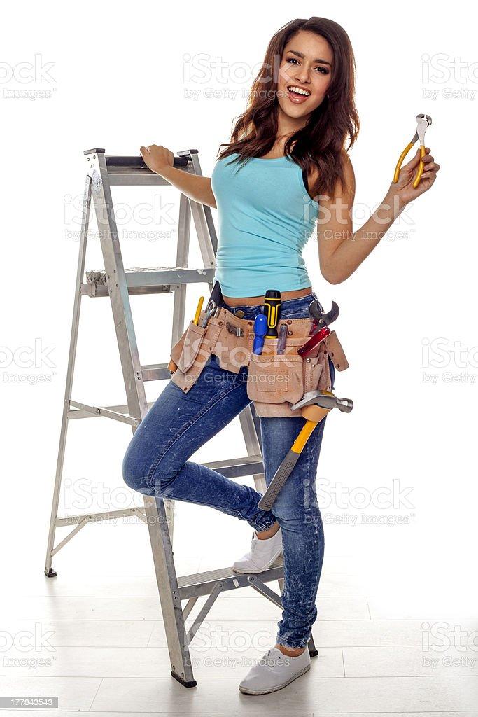 DIY woman. royalty-free stock photo