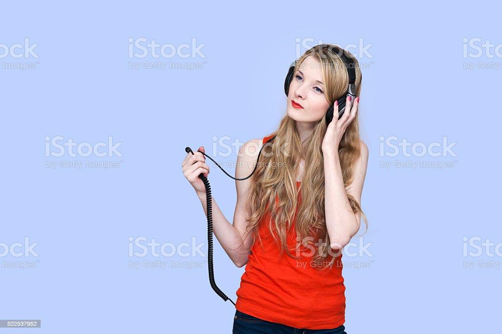 DJ Woman stock photo