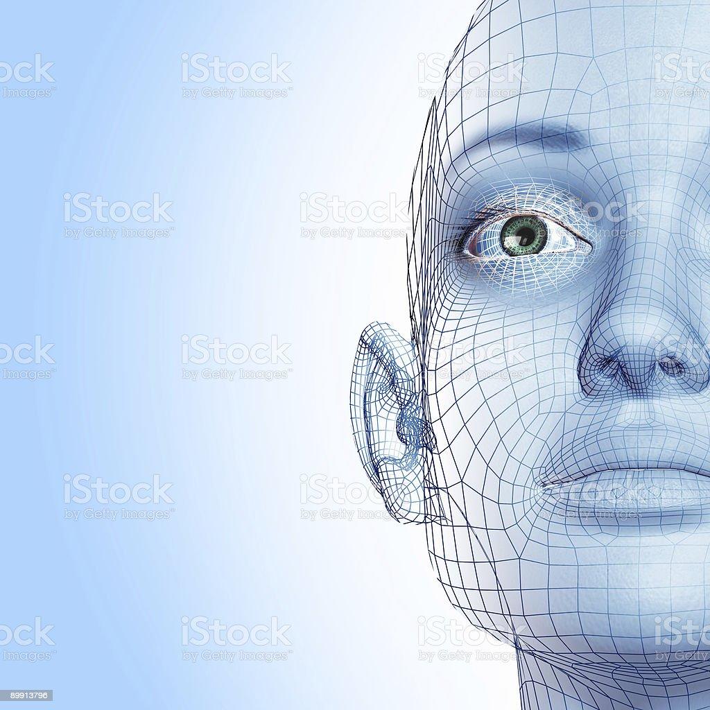 3D woman stock photo