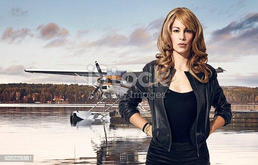 istock Woman pilot 535229381