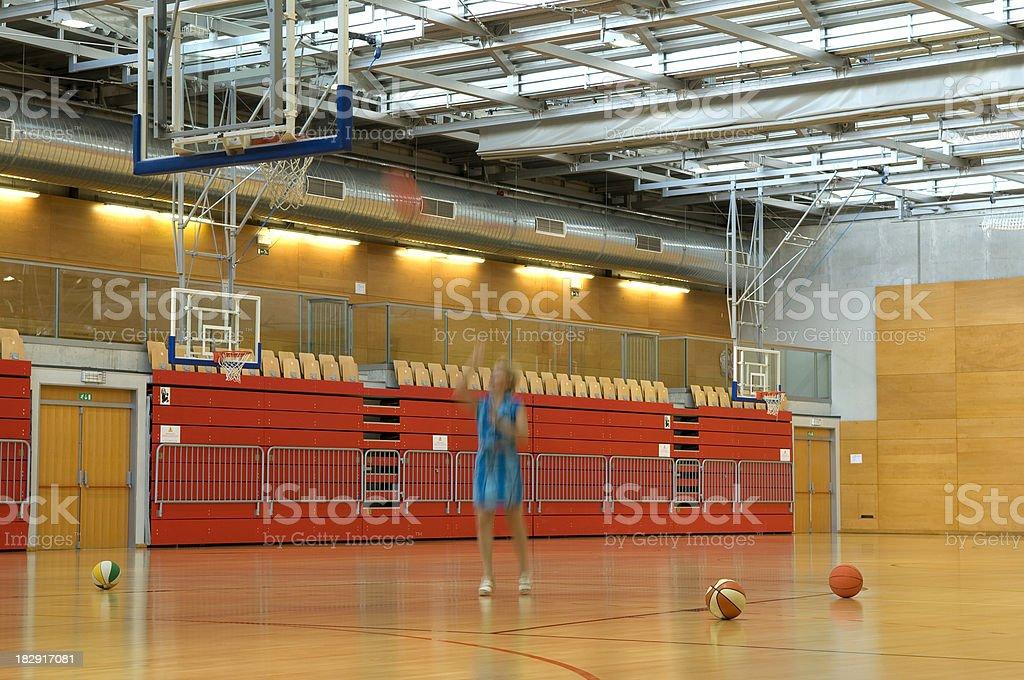 Woman Playing Basketball royalty-free stock photo