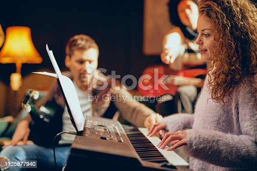 849362192 istock photo Woman playing clavier. 1125877940
