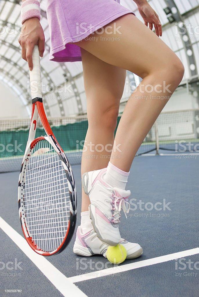 woman playing tennis royalty-free stock photo