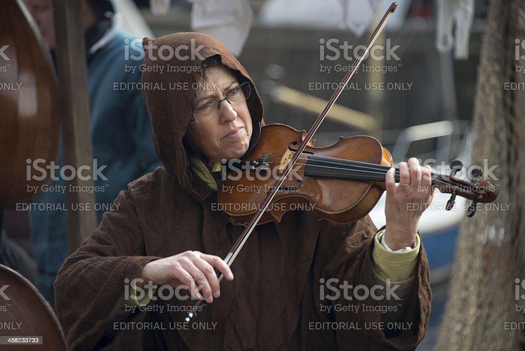 woman playing violin royalty-free stock photo