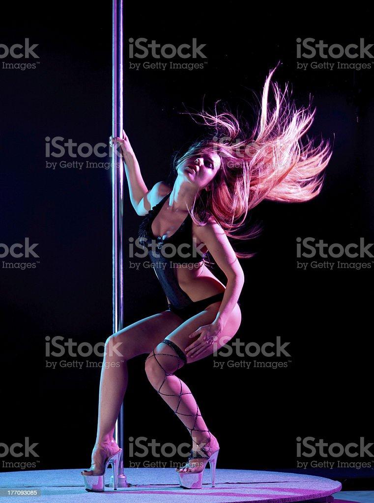 woman pole dancer royalty-free stock photo