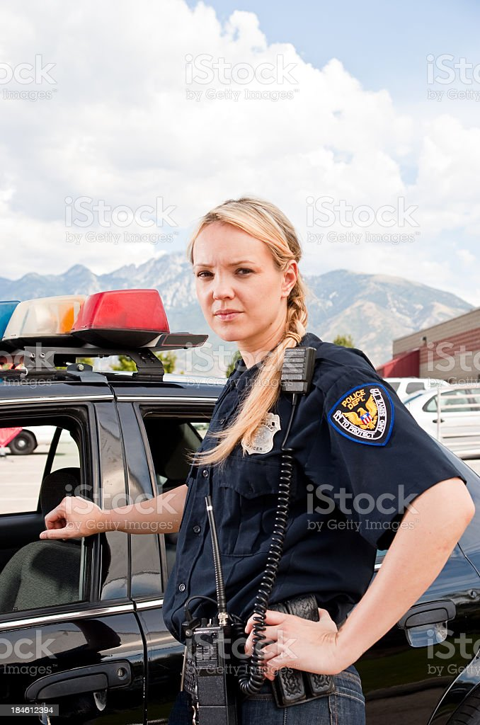 Woman Police Officer stock photo