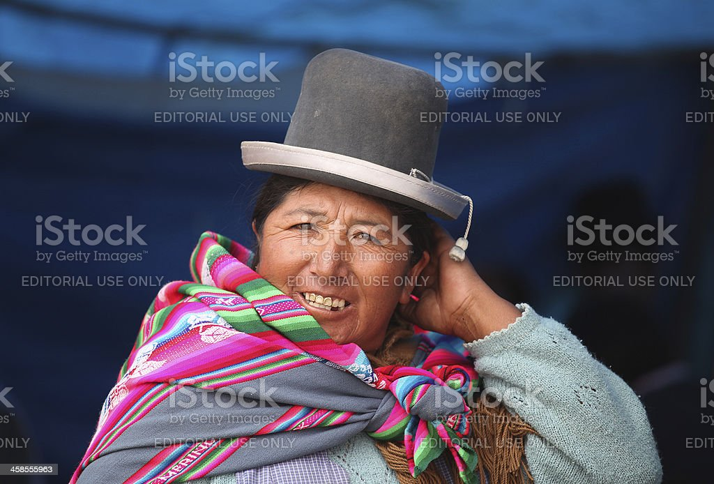 Woman portrait at Laja Festival stock photo