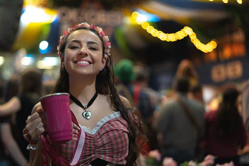 Woman Portrait at Oktoberfest