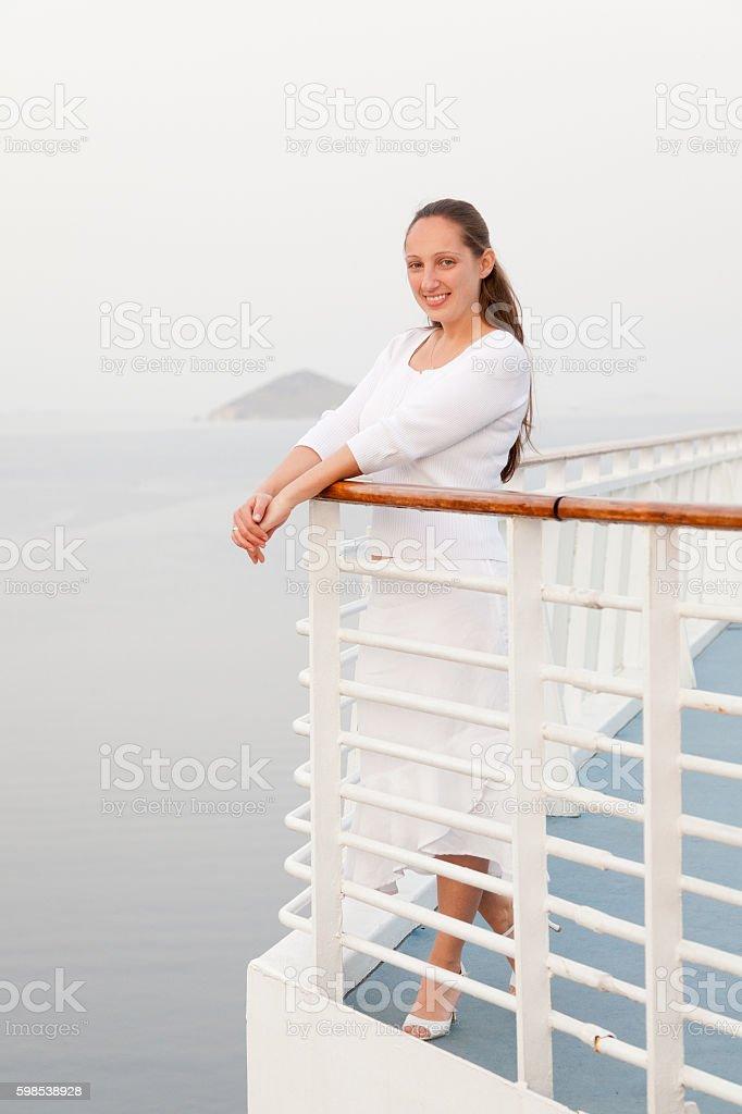 Woman portrait in Patmos photo libre de droits