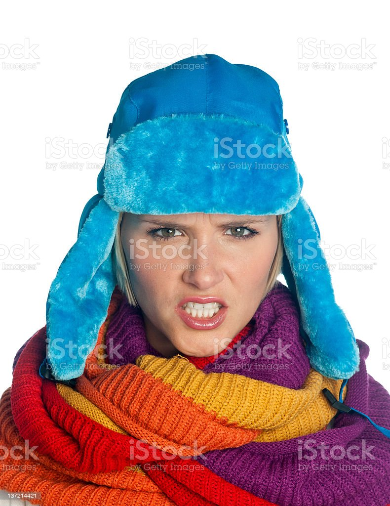 woman portrait in winter clothes royalty-free stock photo