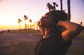 istock Woman portrait on the beach in southern California 1177876369