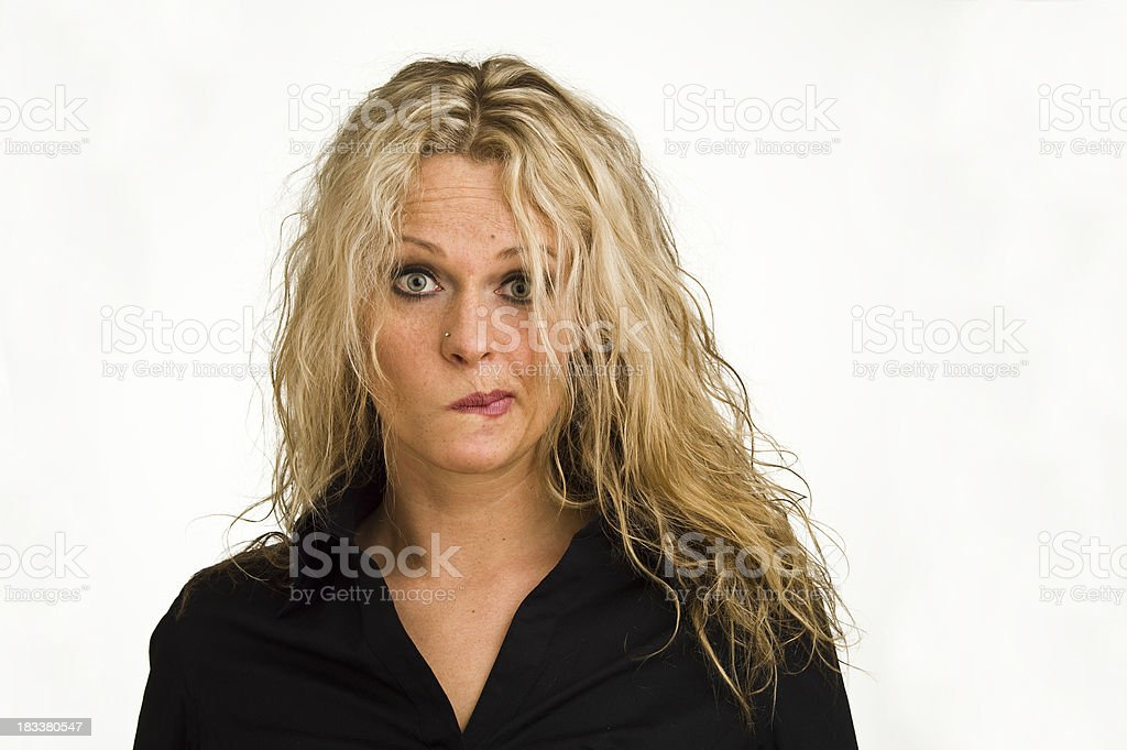 Woman Portrait Serie Face expression stock photo