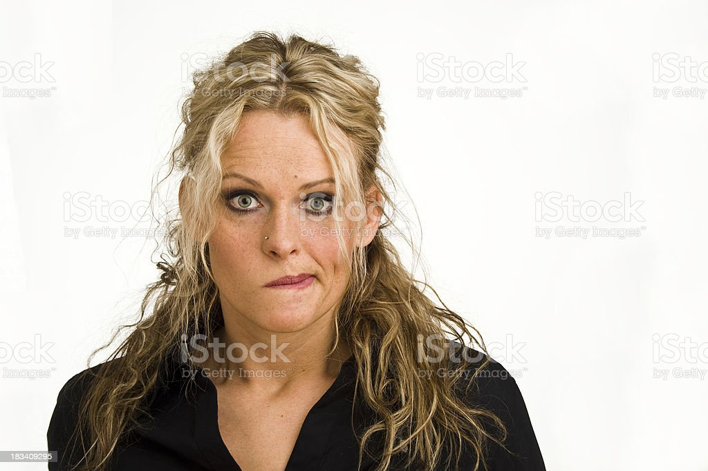 Woman Portrait Serie Face expression royalty-free stock photo