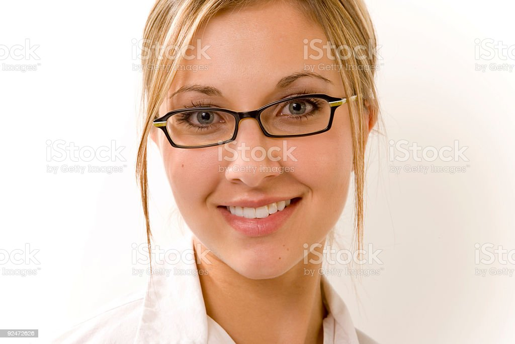 Woman Portrait / Wearing Glasses royalty-free stock photo