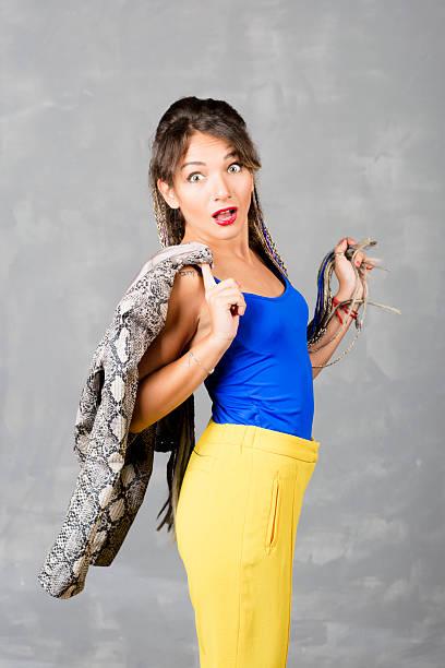 woman portrait with dreadlocks is a studio. - hippie kostüm damen stock-fotos und bilder