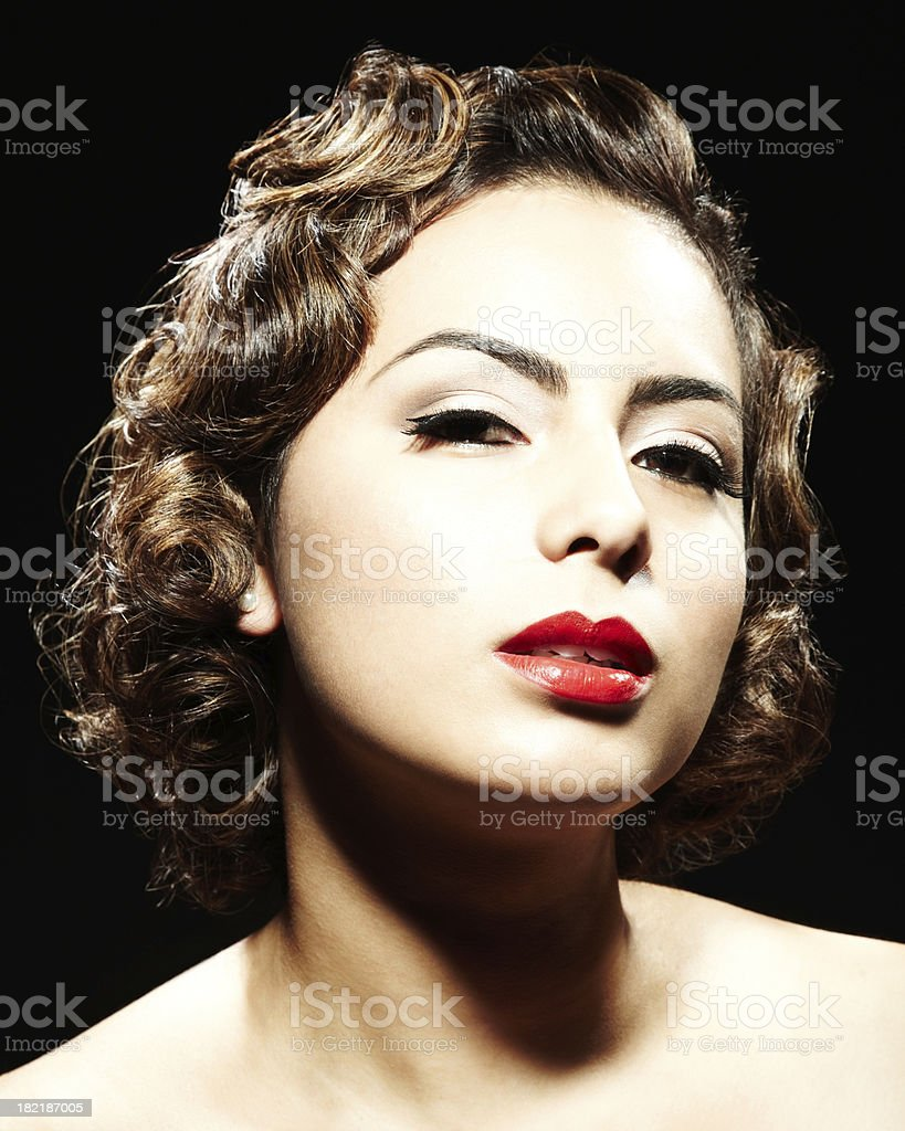 Woman Posing for Camera royalty-free stock photo