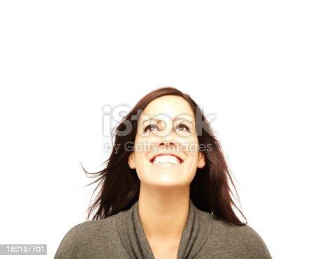 istock Woman Posing for Camera 182187701