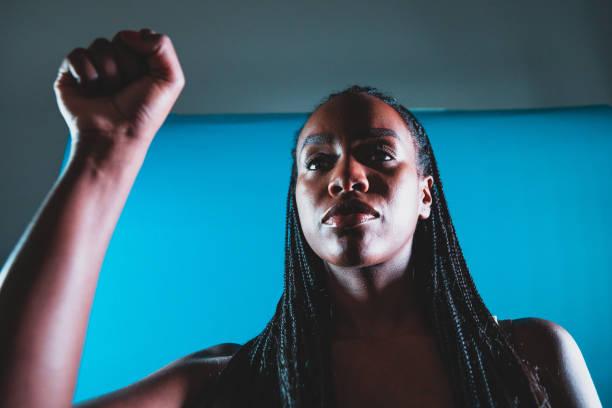 婦女冒充民權 - black power 個照片及圖片檔