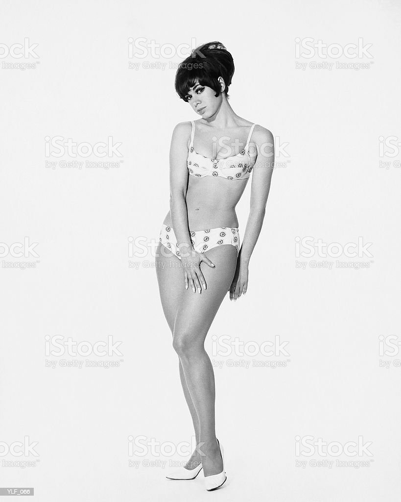 Woman posing in bikini royalty free stockfoto