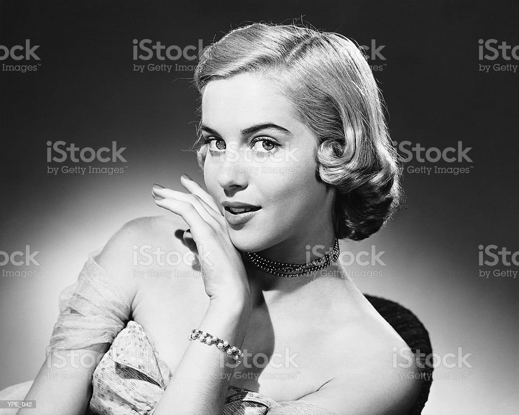 Woman posing royalty free stockfoto
